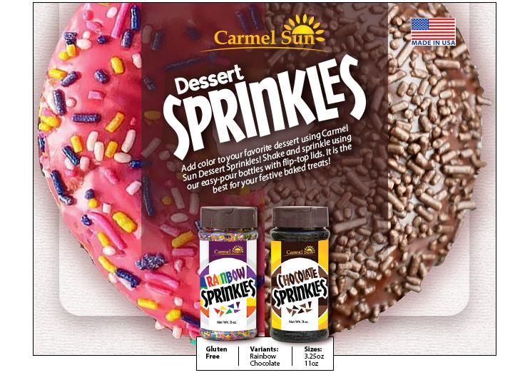 Carmel Sun Dessert Sprinkles