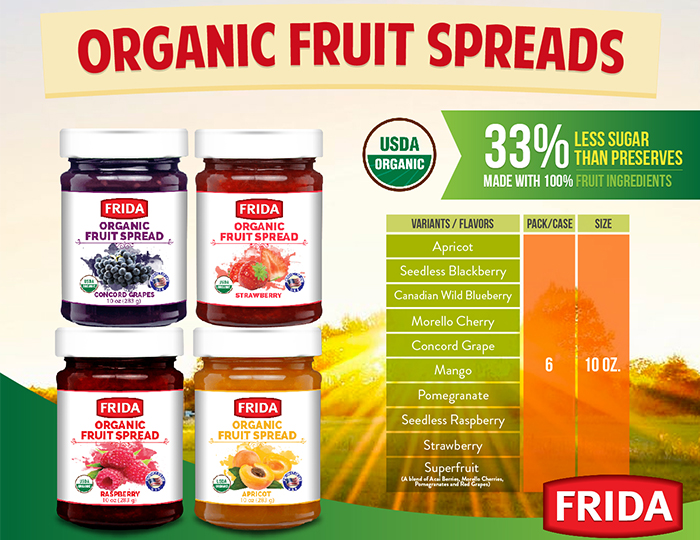 Frida Organic Fruit Spreads