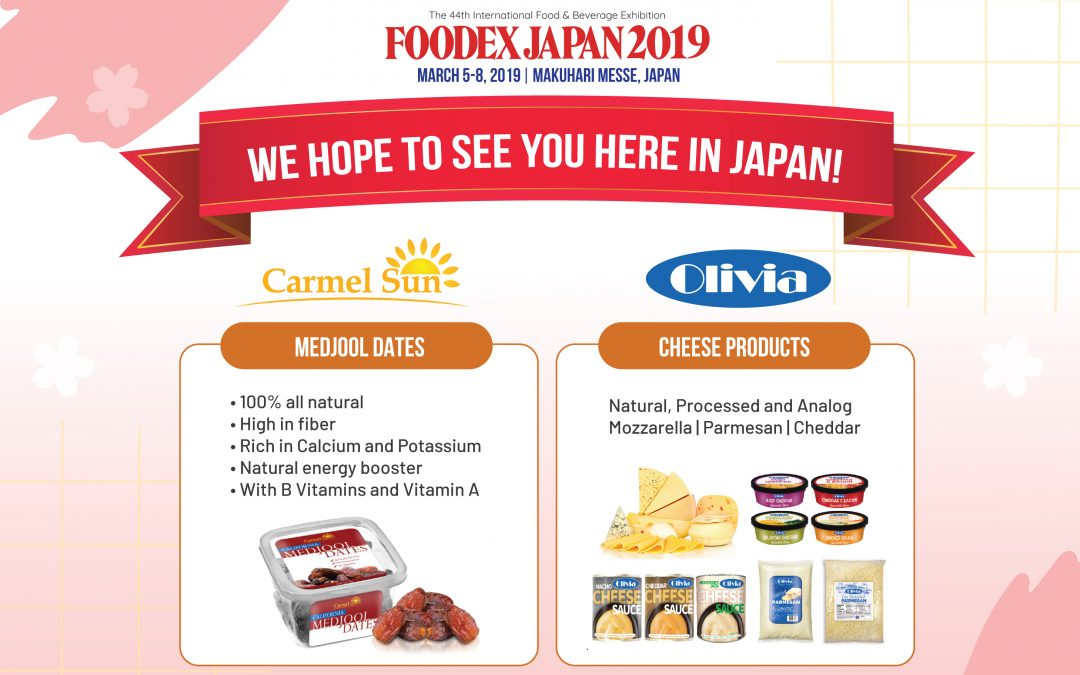 IMB's Medjool Dates and Cheese Products Are At FoodEx 2019