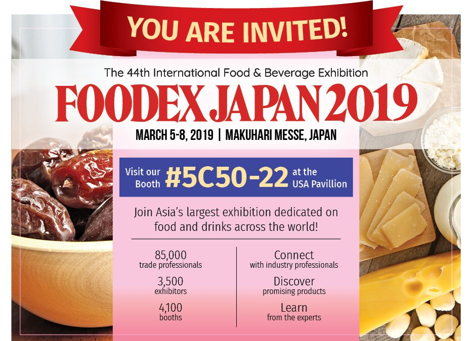 Let's meet at FoodEx Japan 2019!