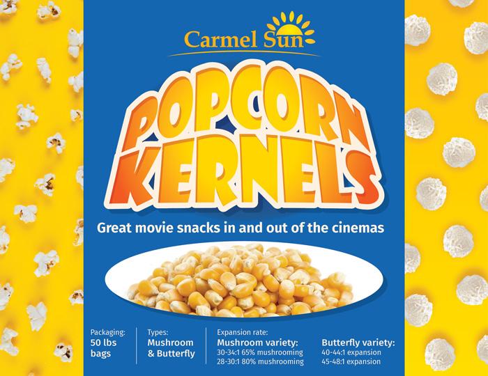 Carmel Sun Popcorn Kernels