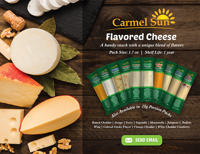 Carmel Sun Flavored Cheese